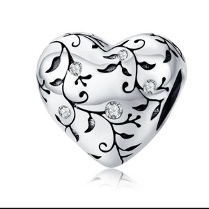 925 Sterling Silver Heart Charm